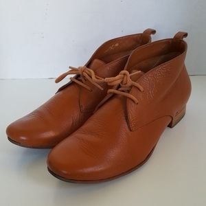 Cole Haan Golden Brown LeatherLace Up Ankle Boots